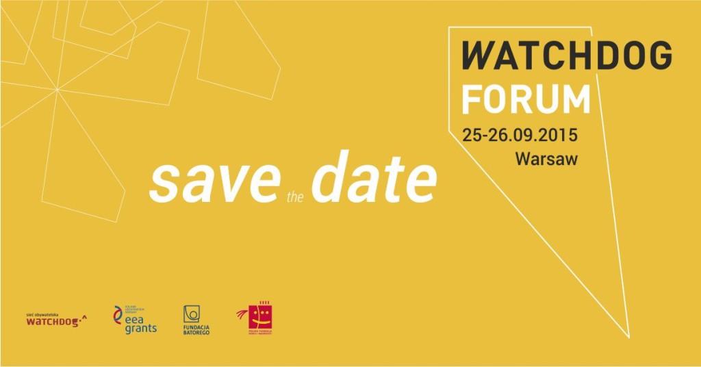 save the date - Watchdog Forum