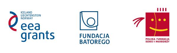 Loga Fundacji Batorego, Polskiej Fundacji Dzieci i Młodzieży oraz funduszy EOG