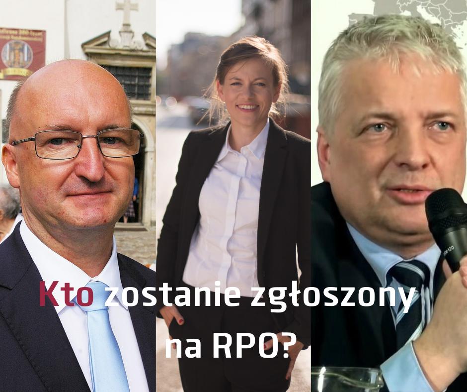 Prawdopodobni kandydaci na Rzecznika Praw Obywatelsikich - dr hab. Piotr Wawrzyk, mec. Zuzanna Rudzińska-Bluszcz, prof. Robert Gwiazdowski